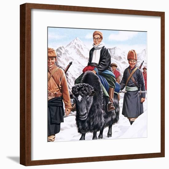 The Young Dalai Lama Fleeing the Chinese-John Keay-Framed Giclee Print