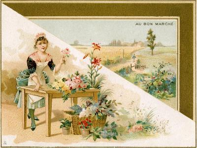 The Young Florist, Bon Marché Promotional Card, C.1900--Giclee Print