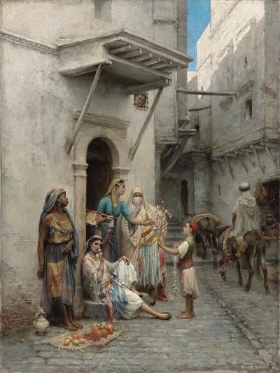 The Young Flower Seller; Le Jeune Marchand De Fleurs-Pierre Outin-Giclee Print