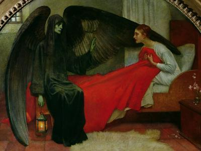The Young Girl and Death, c.1900-Marianne Stokes-Giclee Print