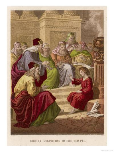 The Young Jesus Debates Theology with the Doctors of the Temple at Jerusalem--Giclee Print