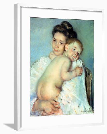 The Young Mother-Mary Cassatt-Framed Giclee Print