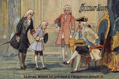 The Young Mozart Is Presented to the Emperor Joseph II--Giclee Print