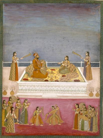 The Young Mughal Emperor Muhammad Shah at a Nautch Performance (1719-48), C.1725-Mughal-Giclee Print