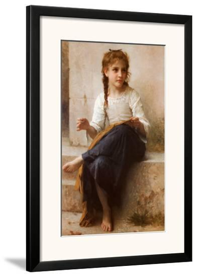 The Young Seamstress-William Adolphe Bouguereau-Framed Art Print