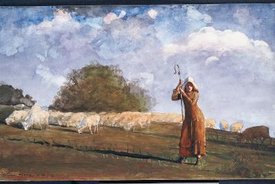 The Young Shepherdess, 1878-Winslow Homer-Giclee Print