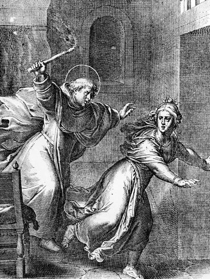 The Young Thomas Aquinas Chases a Temptress from His Room--Giclee Print