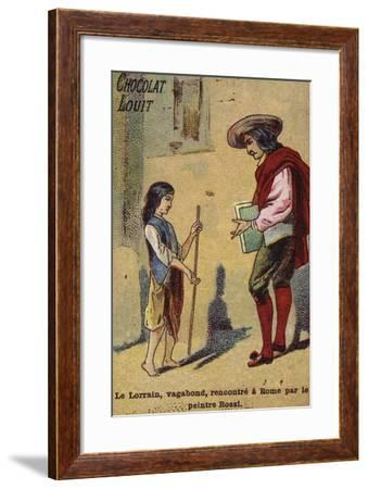 The Young Vagabond Claude Lorrain Is Met in Rome--Framed Giclee Print