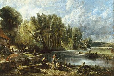 The Young Waltonians - Stratford Mill-John Constable-Giclee Print