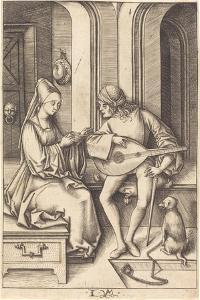 The Lute Player and the Singer, c.1500 by the younger Meckenem Israhel van