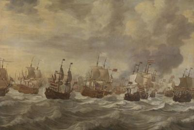 Episode from the Four Days' Naval Battle of June 1666 by The Younger Velde Willem Van De