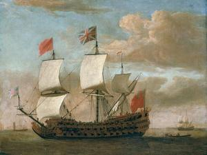 The British Man-O'-War by The Younger Velde Willem Van De