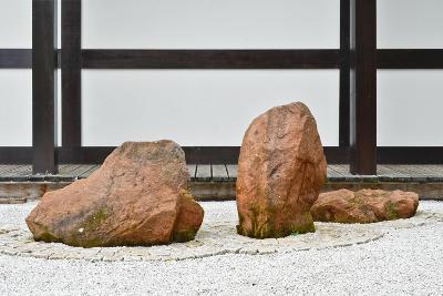 The Zen Garden at Zen Temple Ryumonji--Photographic Print