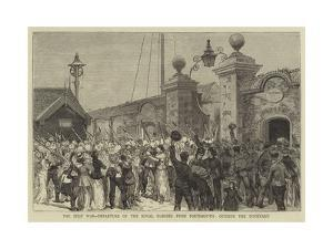 The Zulu War, Departure of the Royal Marines from Portsmouth, Outside the Dockyard
