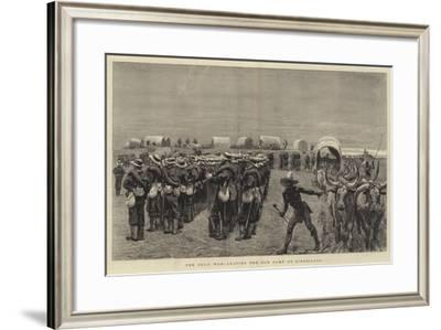 The Zulu War, Leaving the Old Camp at Ginghilovo--Framed Giclee Print