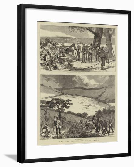 The Zulu War, the Relief of Ekowe--Framed Giclee Print
