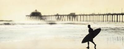 Surfer at Huntington Beach