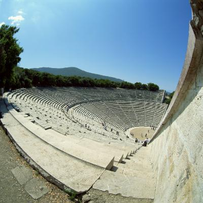 Theatre at the Archaeological Site of Epidavros, UNESCO World Heritage Site, Greece, Europe-Tony Gervis-Photographic Print