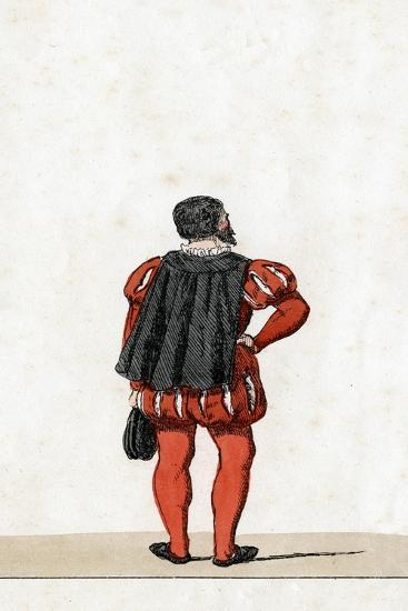 Theatre Costume Design for Shakespeare's Play, Henry VIII, 19th Century--Giclee Print