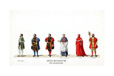 Theatre Costume Designs for Shakespeare's Play, Henry VIII, 19th Century--Giclee Print