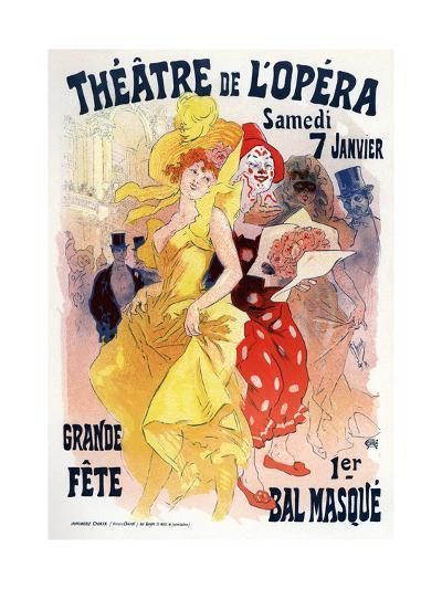 Théatre De L'Opéra, Bal Masqué, 1898-1899-Jules Ch?ret-Giclee Print