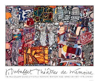 Theatre de Memoire, 1977-Jean Dubuffet-Serigraph