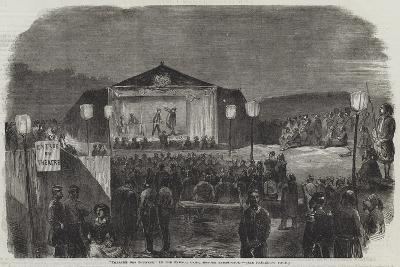 Theatre Des Zouaves, in the French Camp, before Sebastopol--Giclee Print
