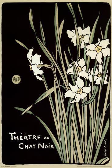 Theatre Du Chat Noir (Flowers)--Poster