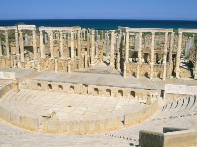 Theatre, Leptis Magna, UNESCO World Heritage Site, Tripolitania, Libya, North Africa, Africa-Sergio Pitamitz-Photographic Print