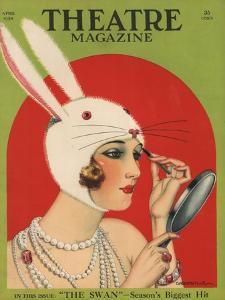 Theatre Magazine, Rabbits Bunny Girls Make Up Makeup Magazine, USA, 1924