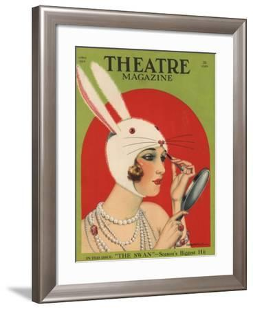Theatre Magazine, Rabbits Bunny Girls Make Up Makeup Magazine, USA, 1924--Framed Giclee Print