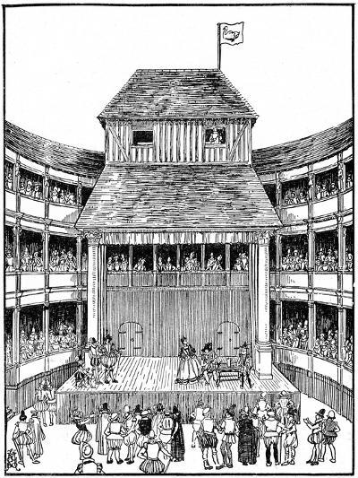 Theatre or Playhouse in the Time of Elizabeth I--Giclee Print