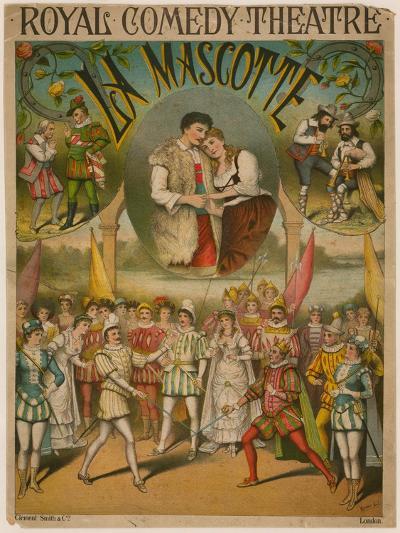 Theatre Poster, La Mascotte at the Royal Comedy Theatre, London--Giclee Print