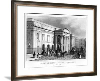 Theatre Royal Covent Garden, Westminster, London, 19th Century--Framed Giclee Print