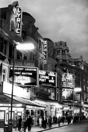 Theatre's of London's West End, 1967-Staff-Photographic Print