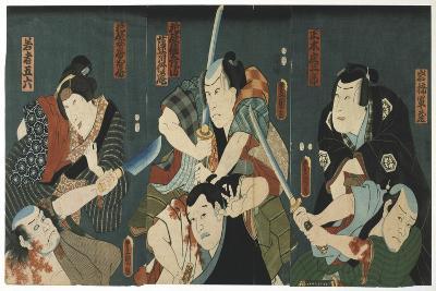 Theatre Scene, 1844-Utagawa Kunisada-Giclee Print