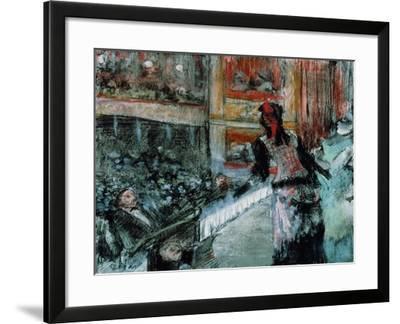 Theatre Scene-Edgar Degas-Framed Giclee Print