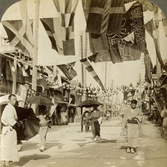 Theatre Street, Osaka, Japan-Underwood & Underwood-Photographic Print