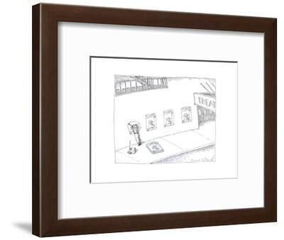 Theatre ticket booth as poster. - Cartoon-John O'brien-Framed Premium Giclee Print