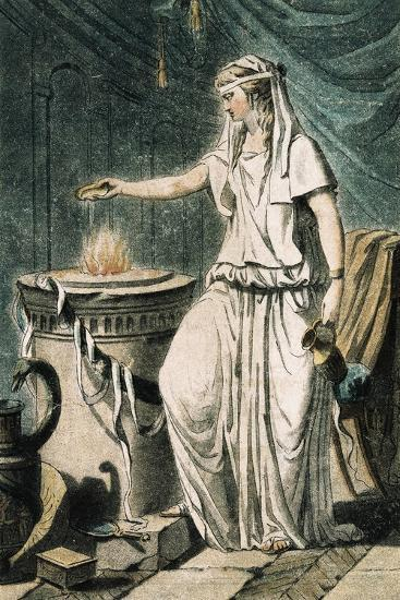 Theatrical Costume for Role of Vestal France--Giclee Print