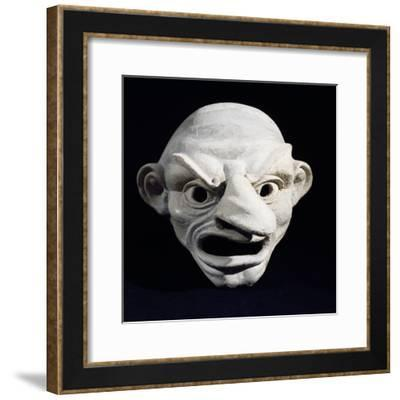 Theatrical Mask, 3rd Century BC--Framed Giclee Print