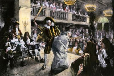 "Theatrical Production of ""Les Fourberies De Scapin,"" a Play by Moliere--Giclee Print"