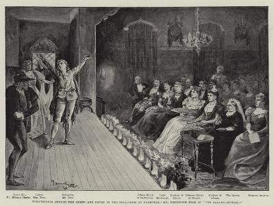 Theatricals before the Queen and Court in the Ball-Room at Balmoral--Giclee Print