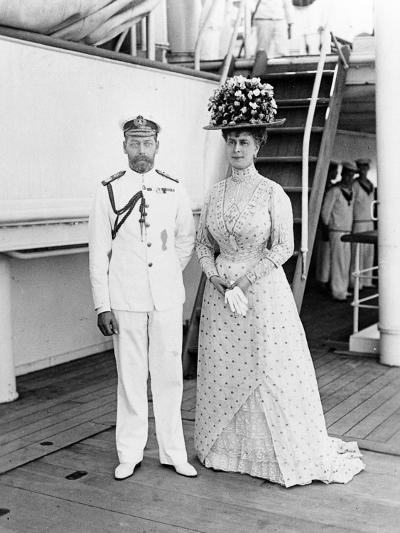 Their Majesties at Aden, 1911--Photographic Print