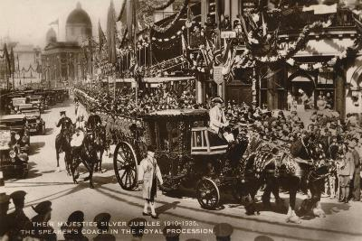 Their Majesties Silver Jubilee 1910-1935, the Speaker's Coach in the Royal Procession--Giclee Print