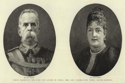 Their Majesties the King and Queen of Italy, Who are Celebrating their Silver-Wedding--Giclee Print