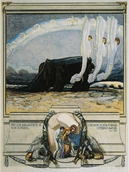Their Malison Hath No Condemning Power, So Fixed, That Love Eternal Cannot Bend-Dante Alighieri-Giclee Print