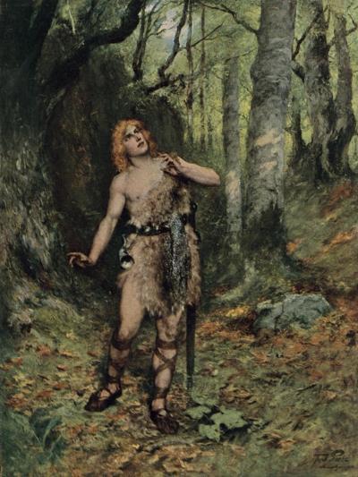 Then in the Silence a Bird Sang to Him-Ferdinand Lecke-Giclee Print