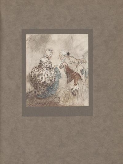 'Then Old Fezziwig Stood Out to Dance with Mrs. Fezziwig', 1915-Arthur Rackham-Giclee Print