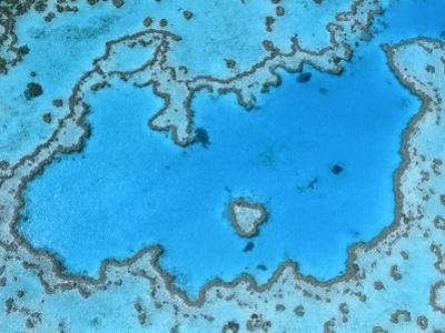 Aerial View of Great Barrier Reef
